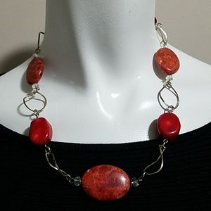 Jewelry - Red & Silver Necklace